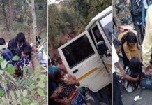 गुजरात: खाई में गिरी स्कूल बस, 10 बच्चों की मौत 70 घायल...